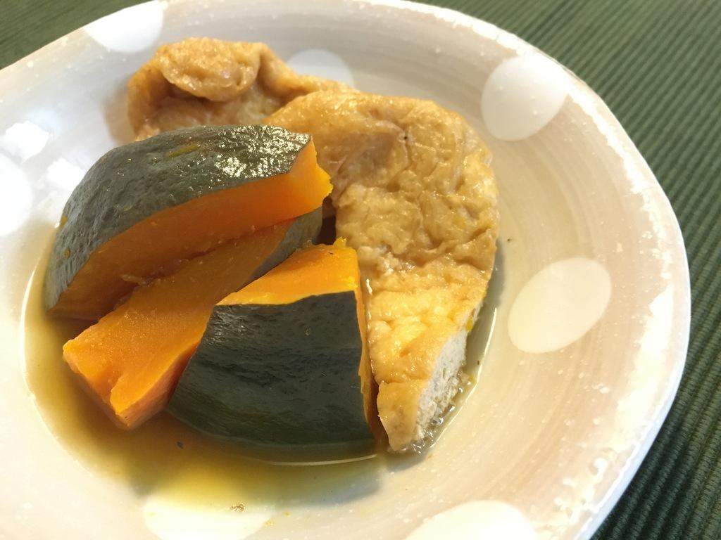 かぼちゃと揚げの煮物