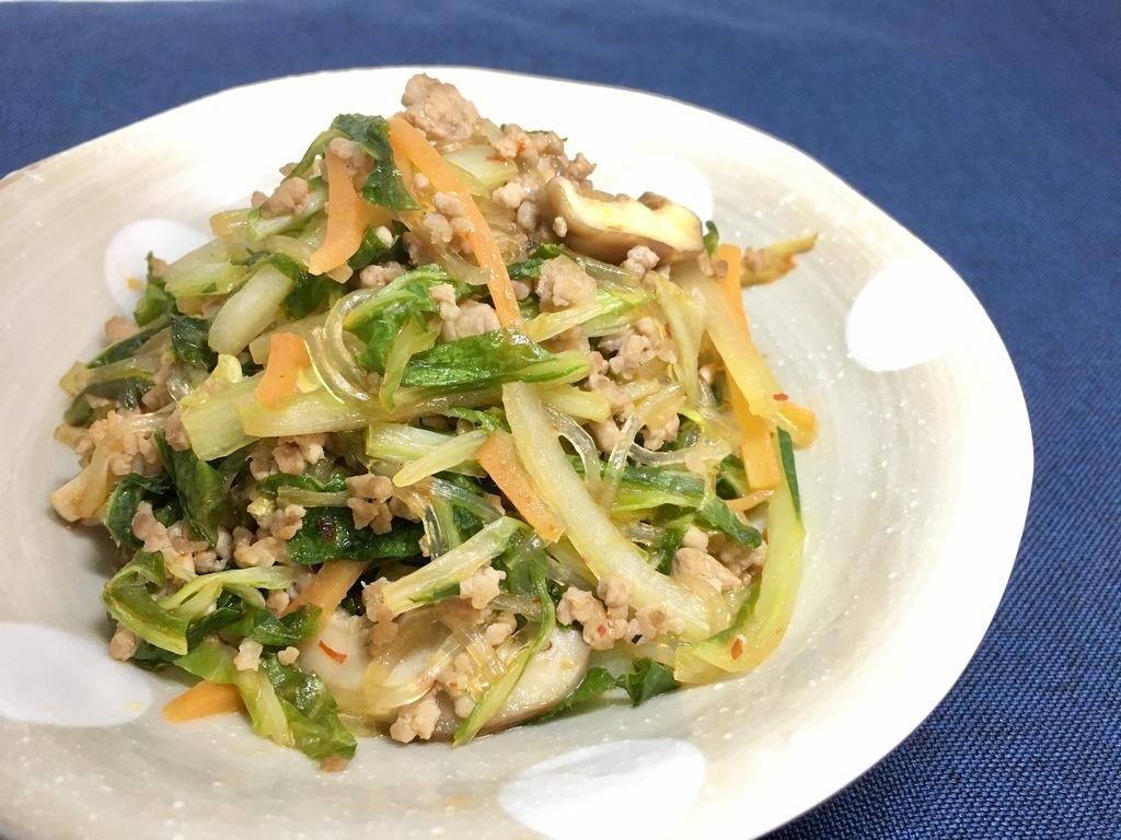 豚 ミンチ 白菜